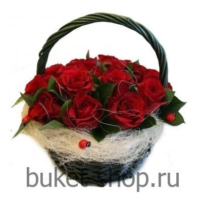 Корзины из роз своими руками